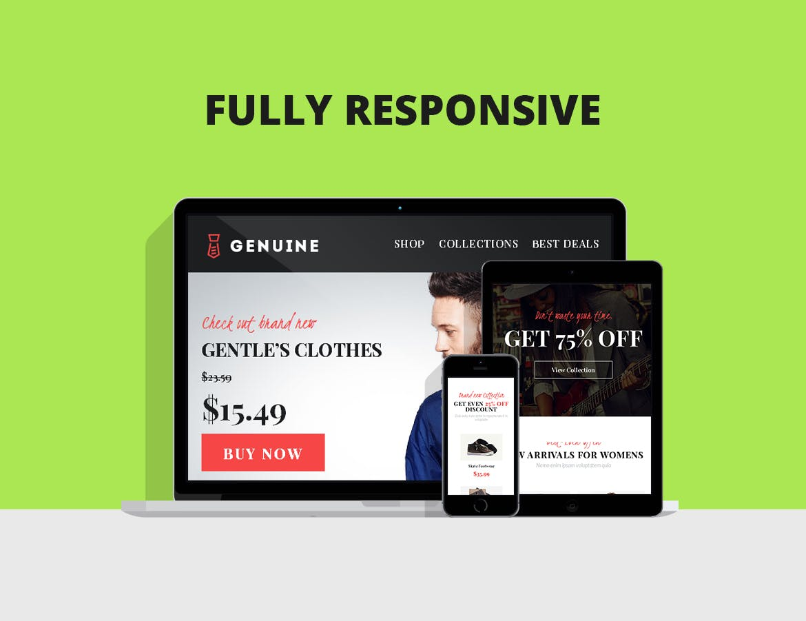 FULLY responsive Viway Email Marketing Templates with FULL rights