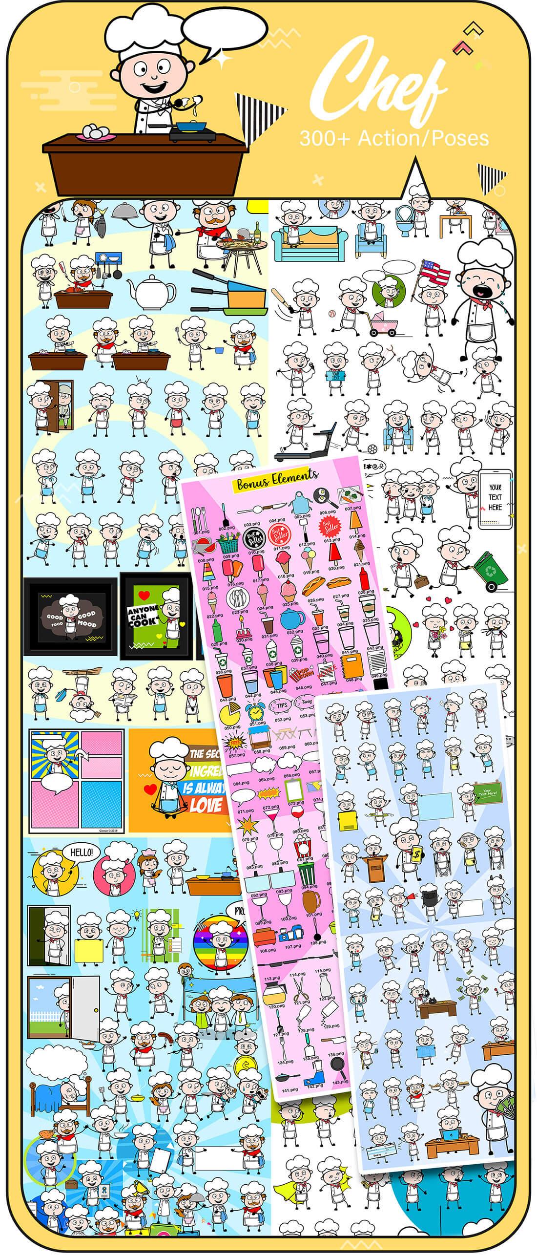 8,000+ Cartoon Character Vectors with BONUS materials