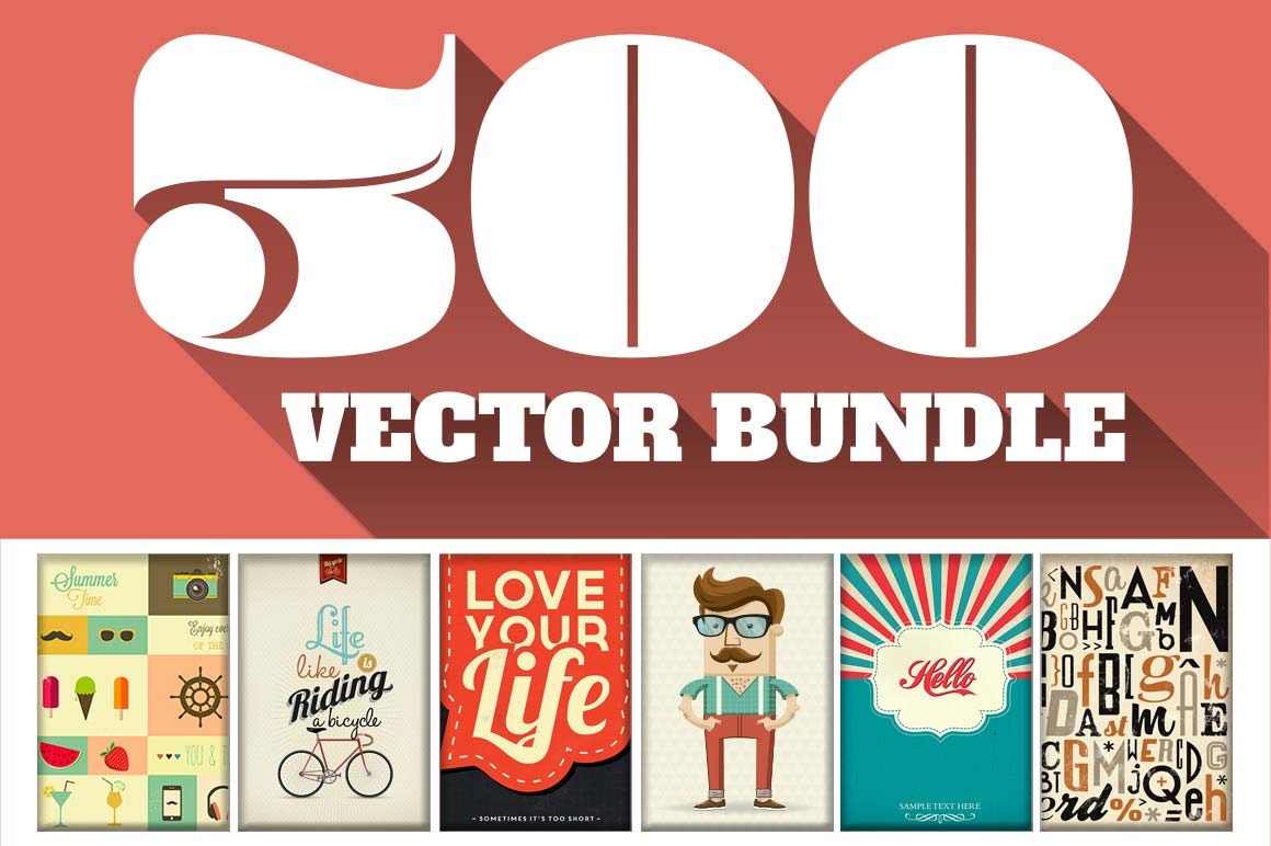 300 Premium Vector Files worth 1500 dollars with FULL rights