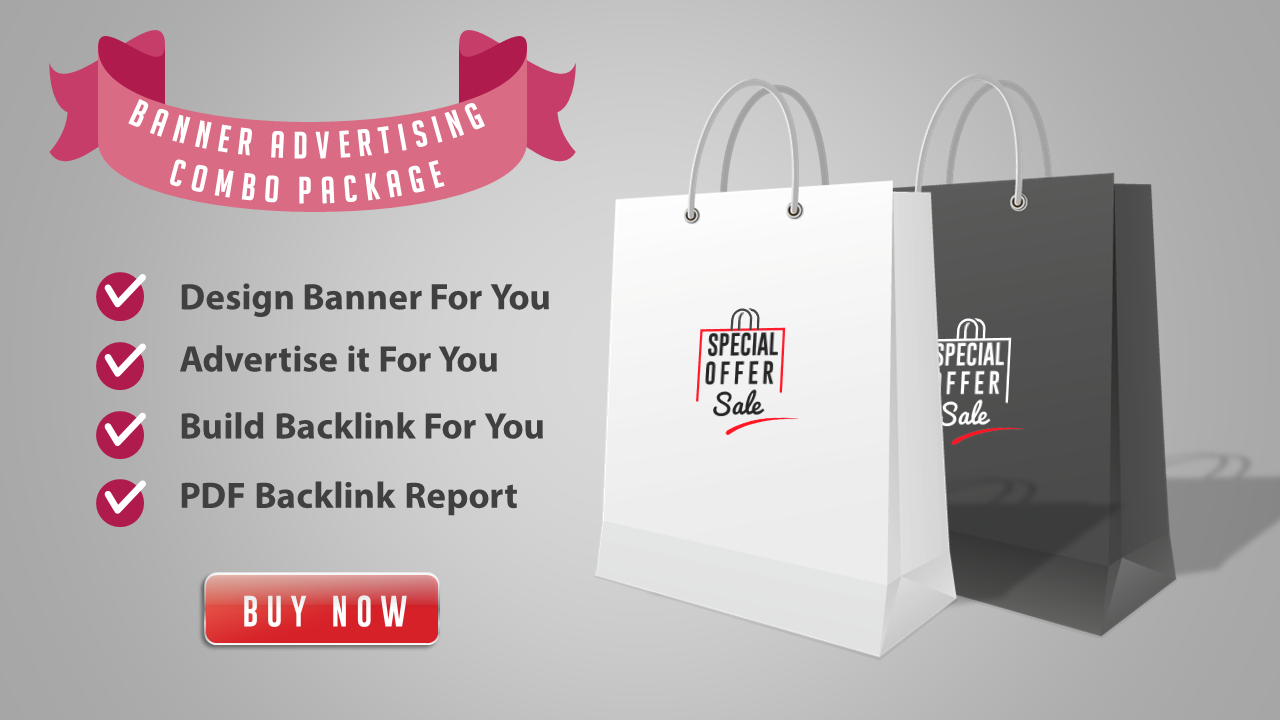 Web Banner Package - Banner Design + Advertising + Backlink Building