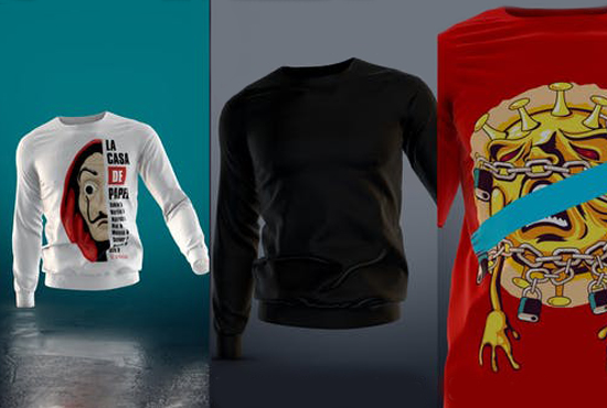 I will create an animated t shirt mockup with your design