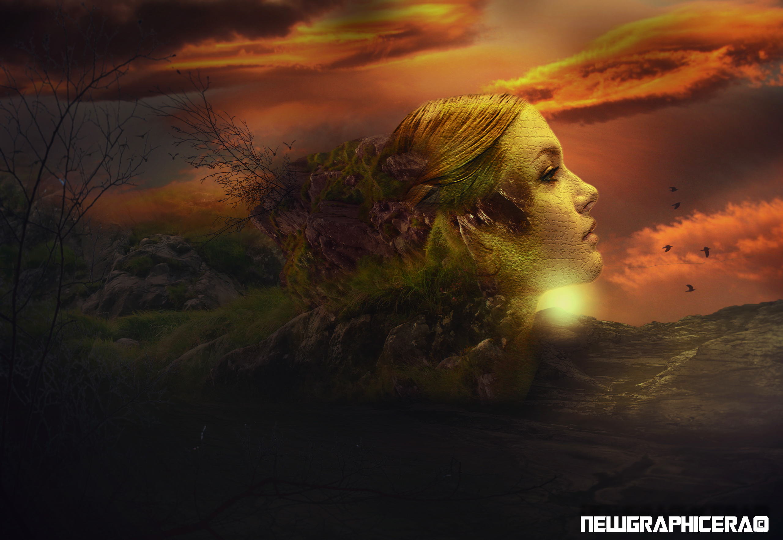 I will create any digital art manipulation photoshop work