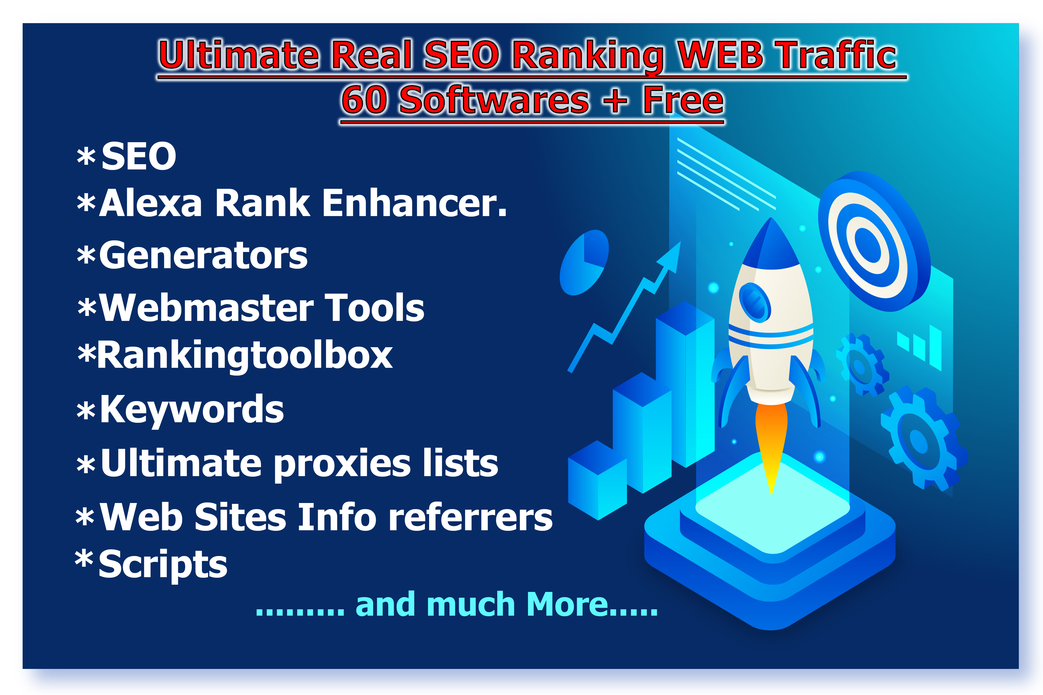Ultimate Real SEO Ranking WEB Traffic 60 Softwares + Free