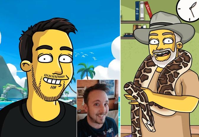 Simpsons Custom character, Simpsons Portrait, Cartoon Portrait, Couple portrait - Turned Yellow Simp