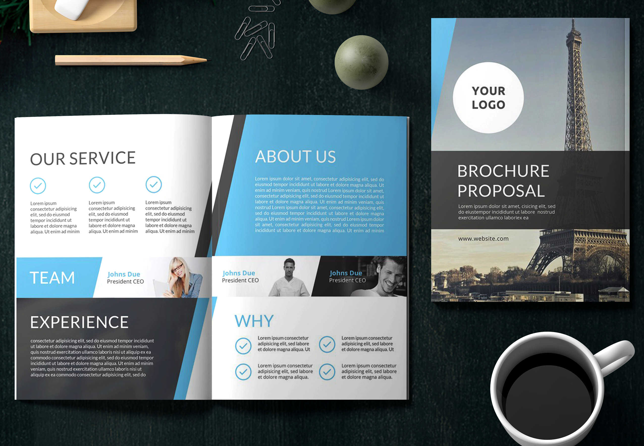 Design Company Profile Business Brochure, Or Annual Report