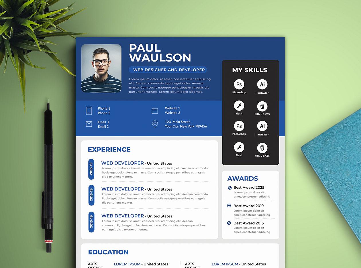 design professional modern cv resume for  15