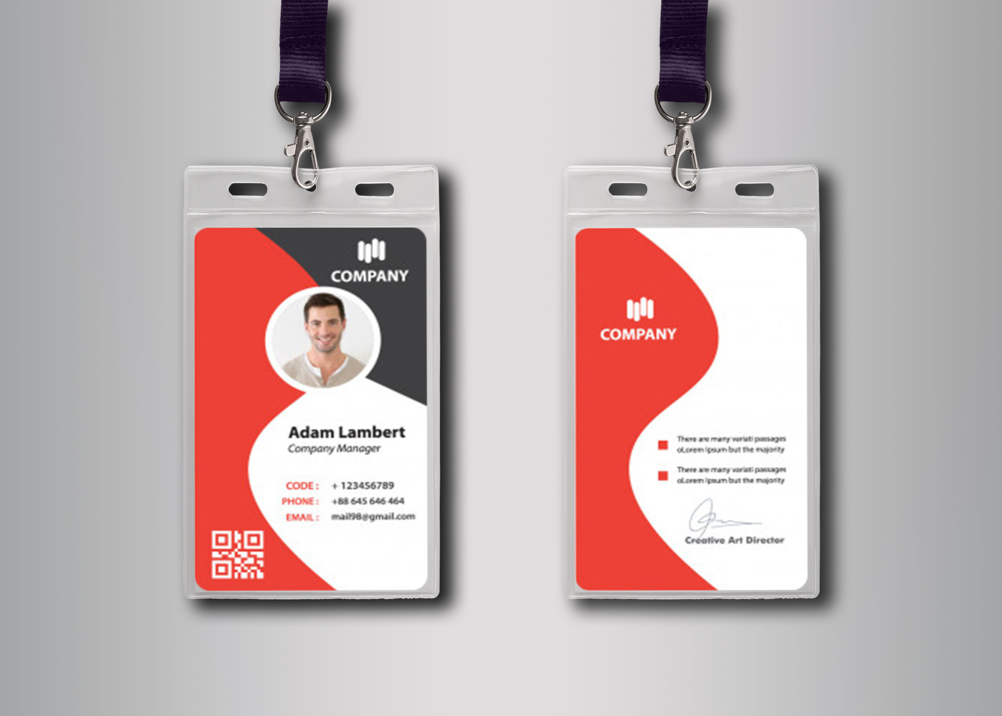 Design a customized and professional ID card especially for your business