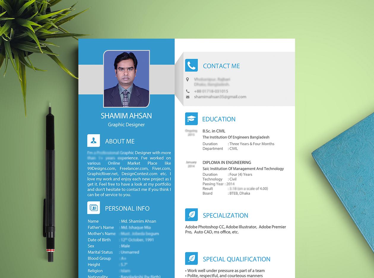 Design Professional Modern Cv Resume