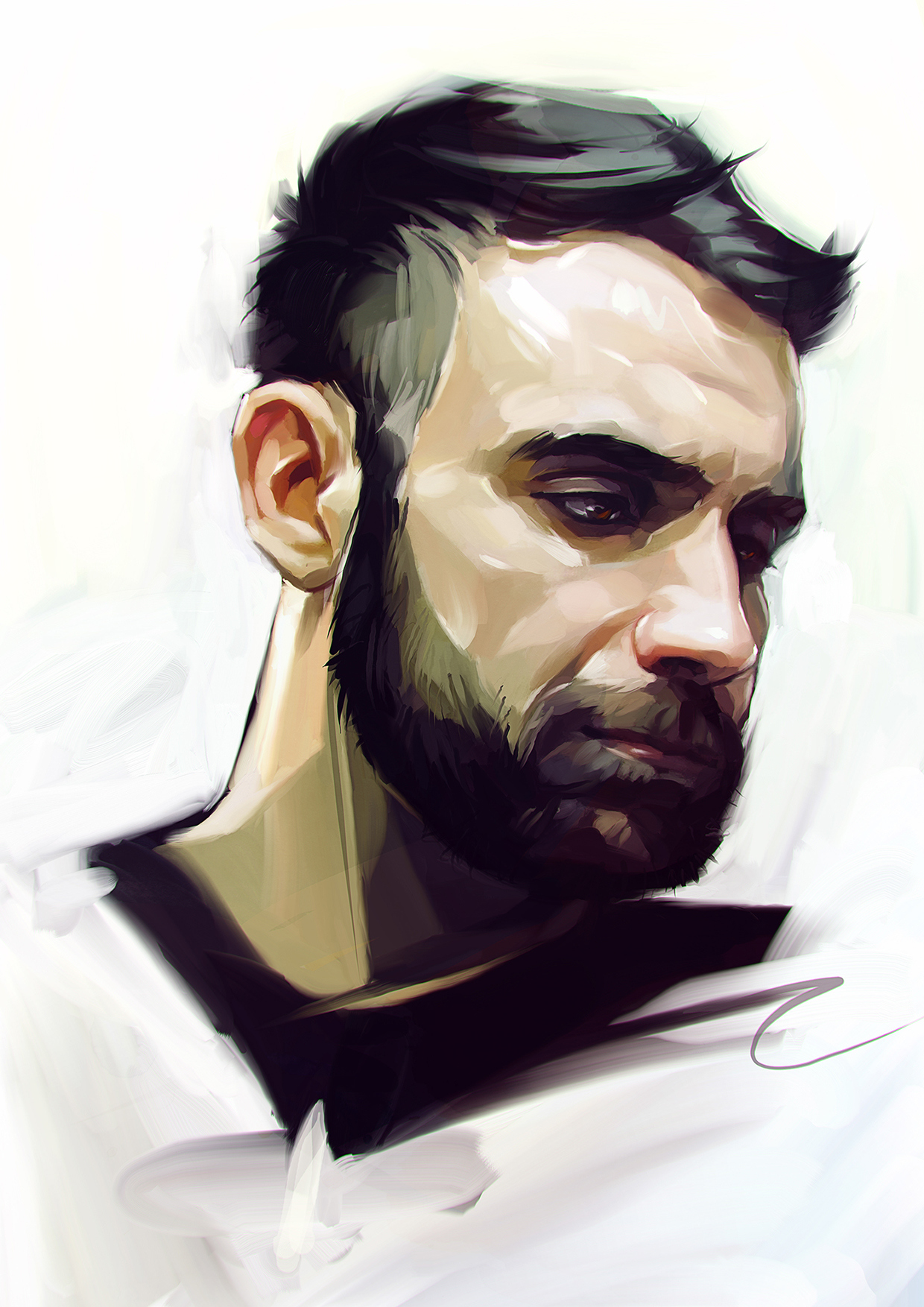 I will draw you a digital portrait in my style