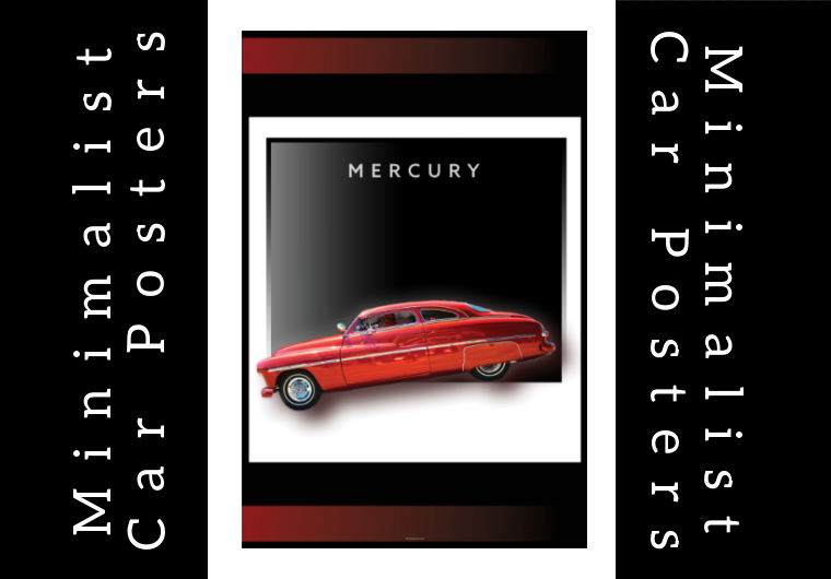 Design eye catching minimalist car poster