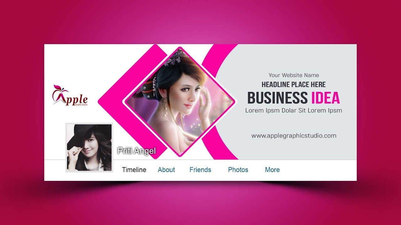 Design facebook page cover, profile picture, and business ads for social media
