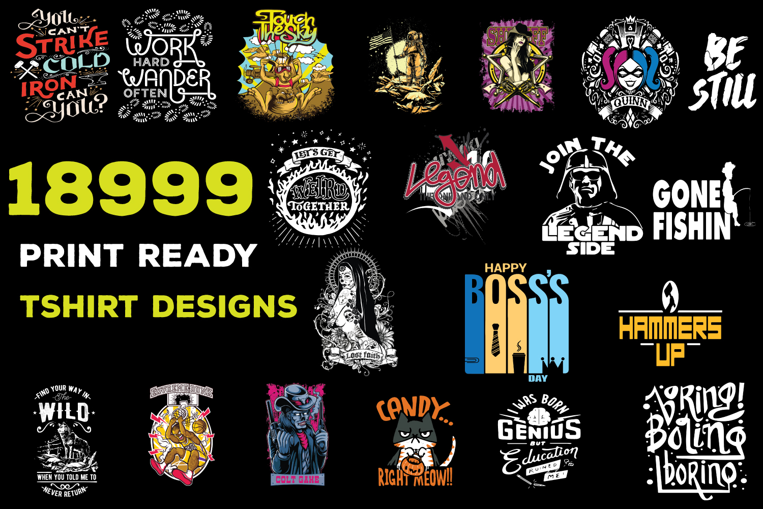 Send You 18999+ Print Ready Tshirt Designs