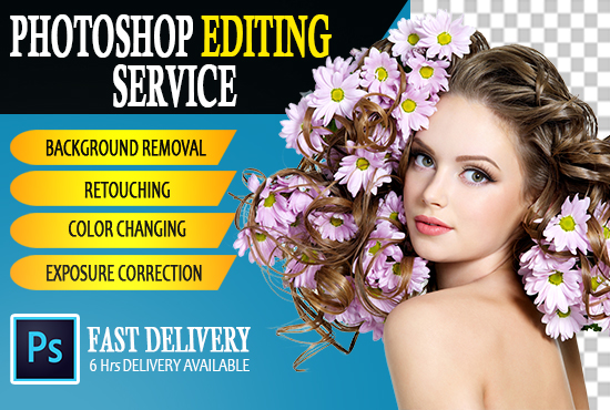 I will do professional Photoshop editing, Color changing, retching in 5 images