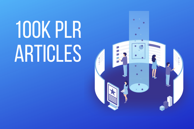 I will give you high quality 100k PLR articles