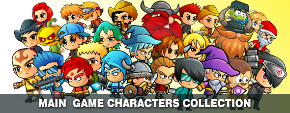 Super Hero 2D Game Character Sprites