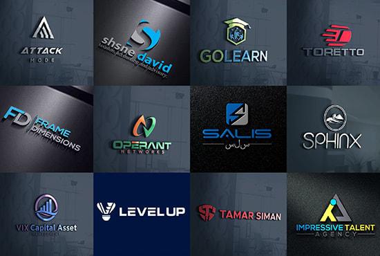 I will create 3 versatile modern business logo