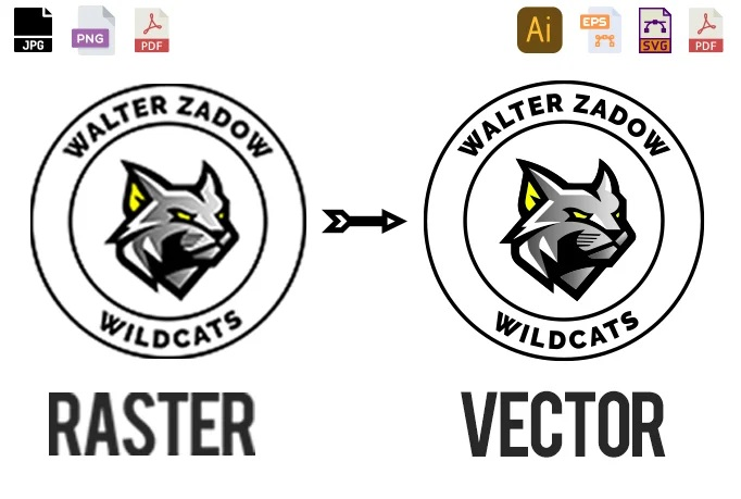 I will convert low quality logo image to vector ai,eps,png,psd in 2 hour