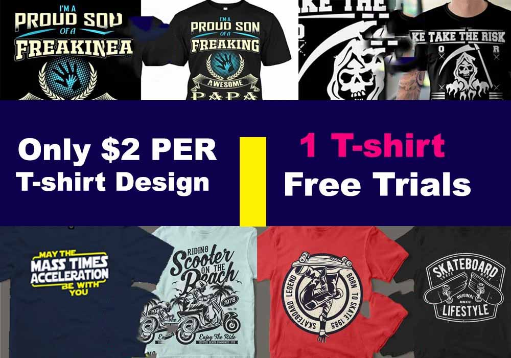 I will uinque tee spring, printful, redbubble tshirt design