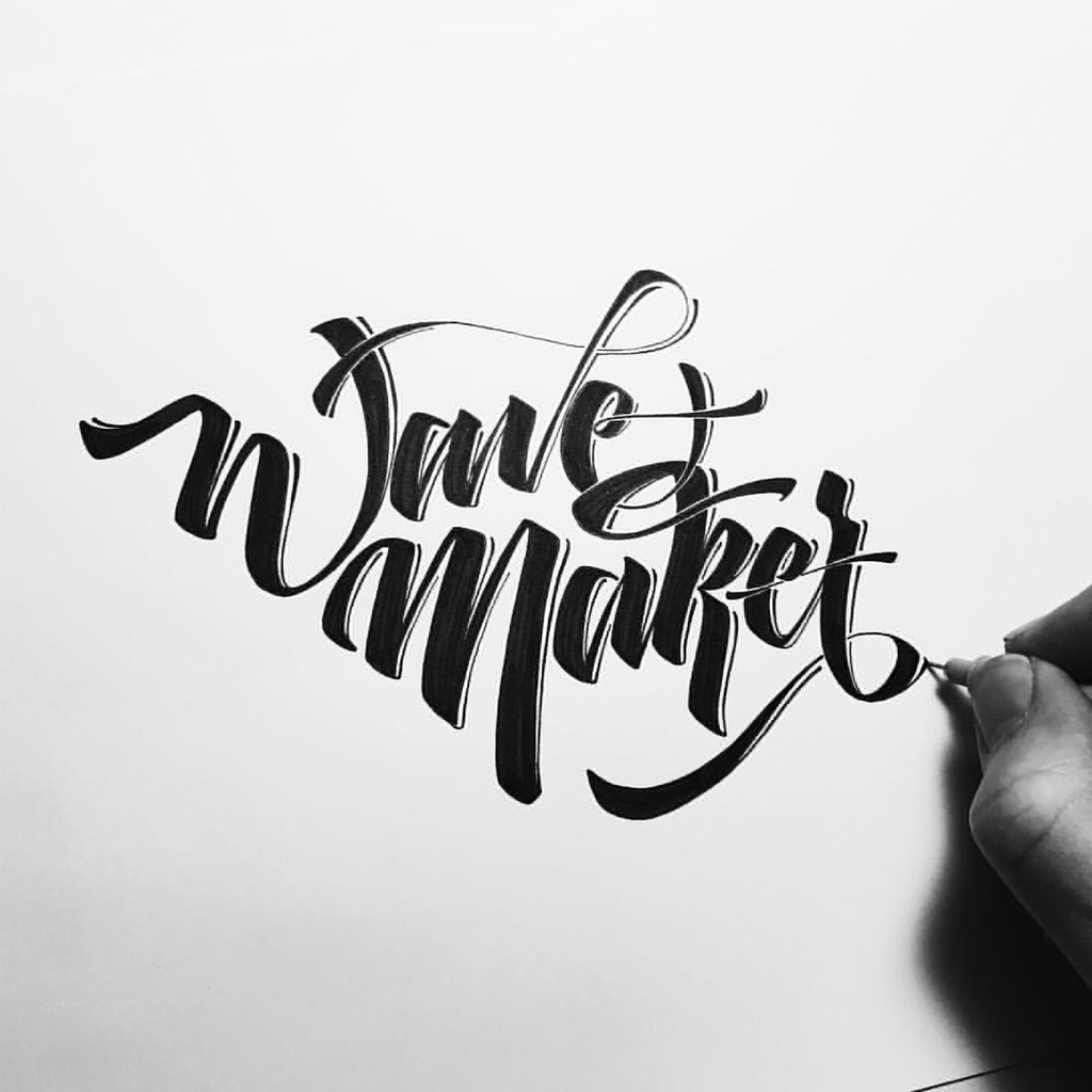 I can write any calligraphy,  handlettering and typography.