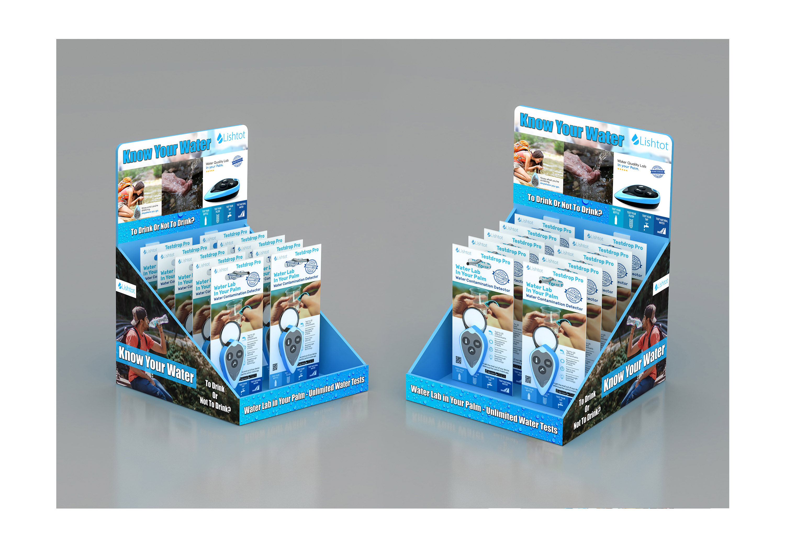 Design Creative Floor Stand and Showcase for Retail