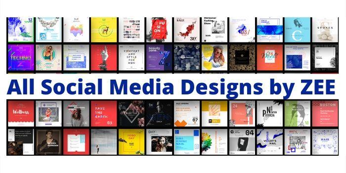 create custom and profesional social media posts designs