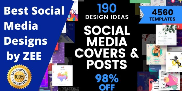 create custom and profesional social media posts designs