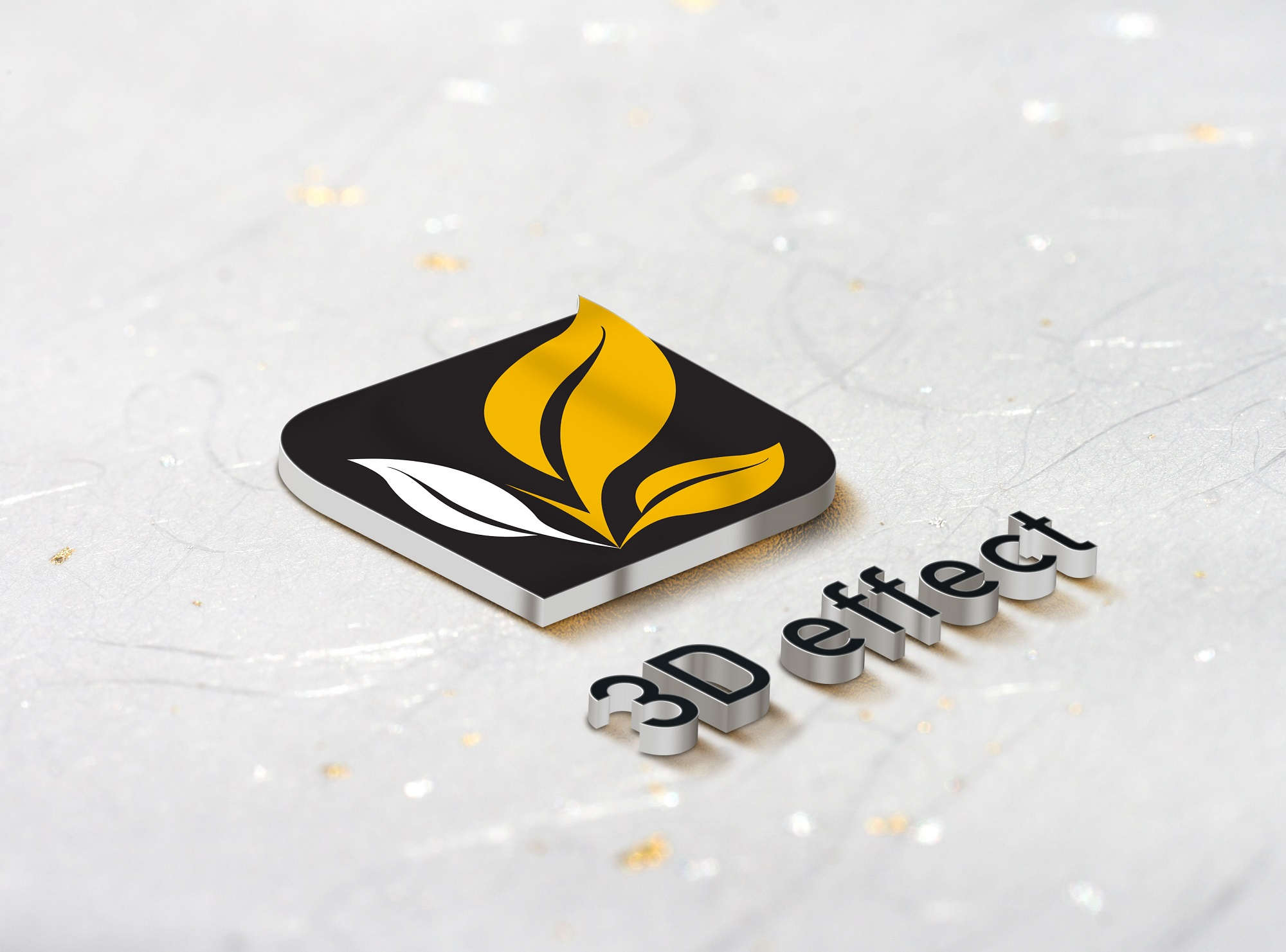 Create 3D Mockup of your Logo with 10 different variations style out of 20 style