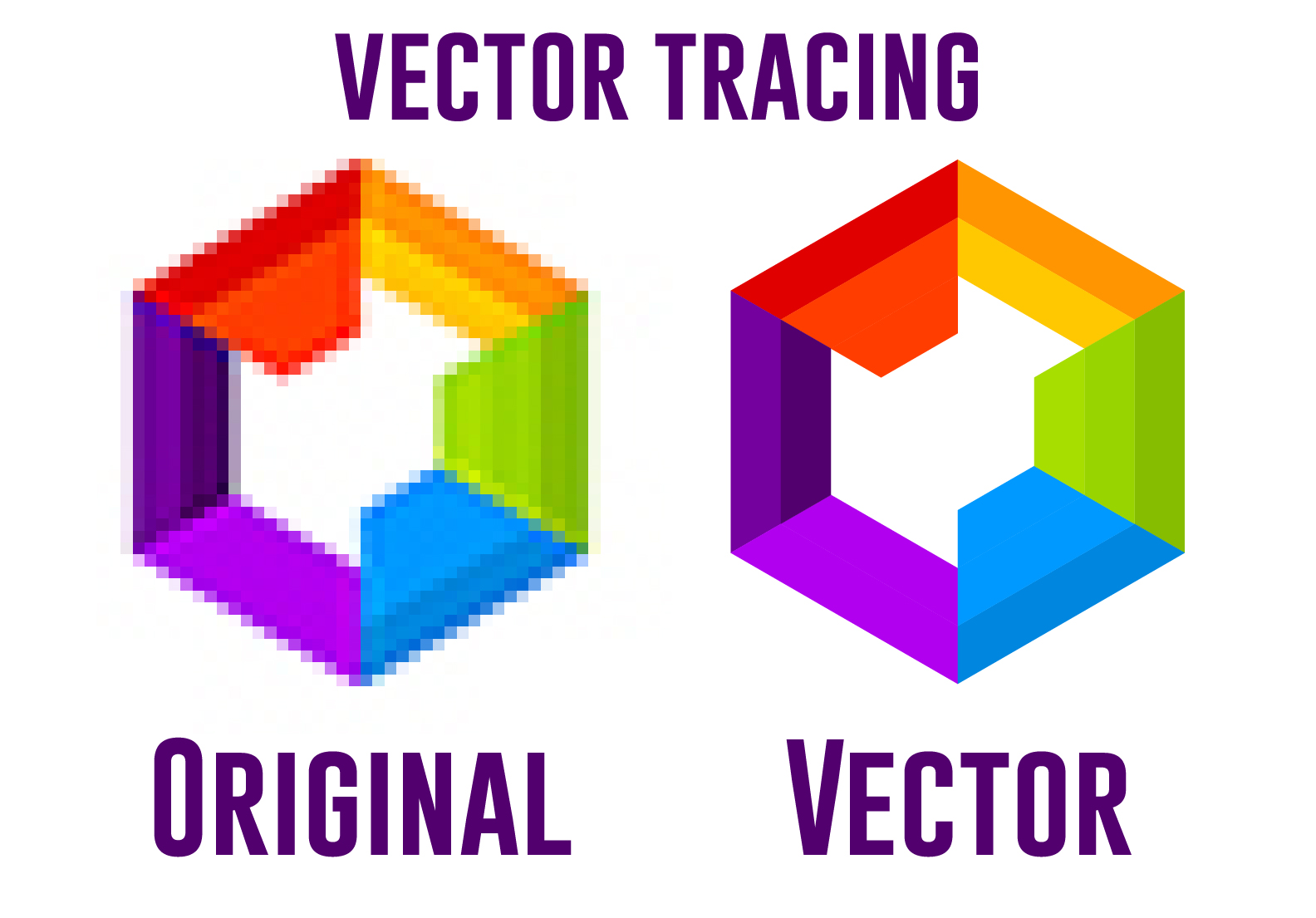 Vectorize,  redraw your logo or image into vector