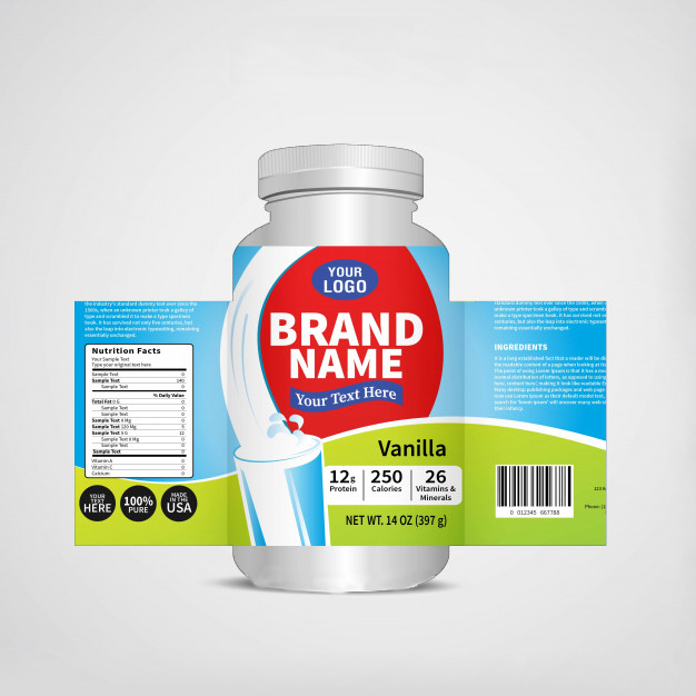 design professional product labels and 3d mockup