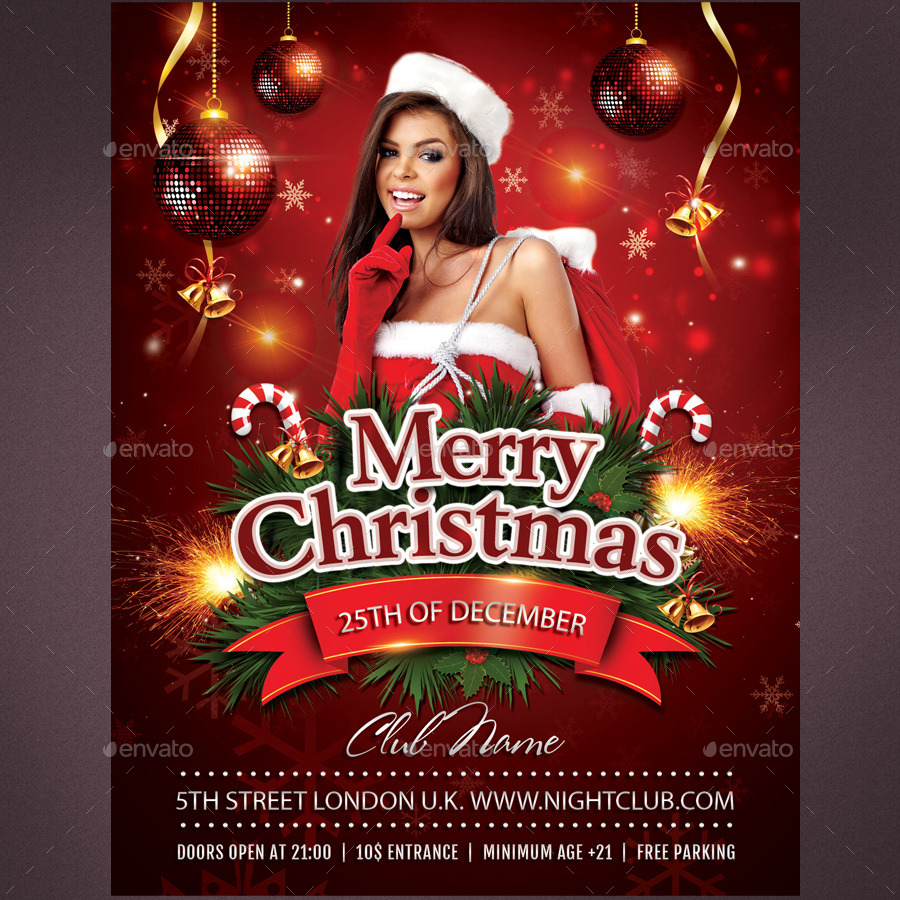 I will design easter and christmas flyers or posters