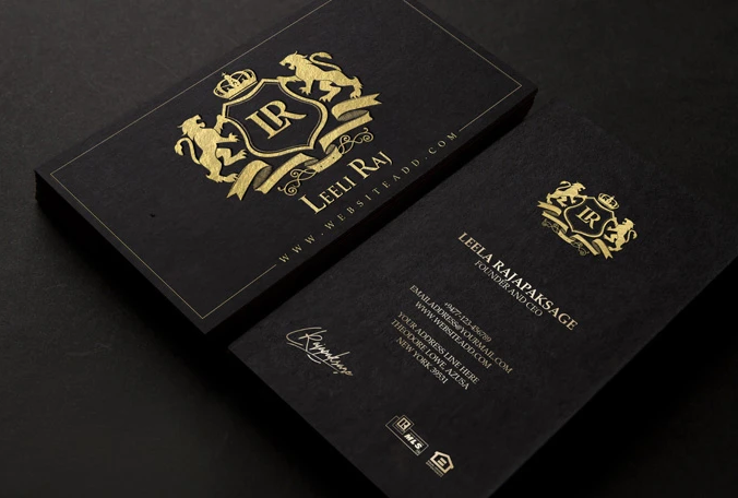 I will create luxury outstanding business card design for you