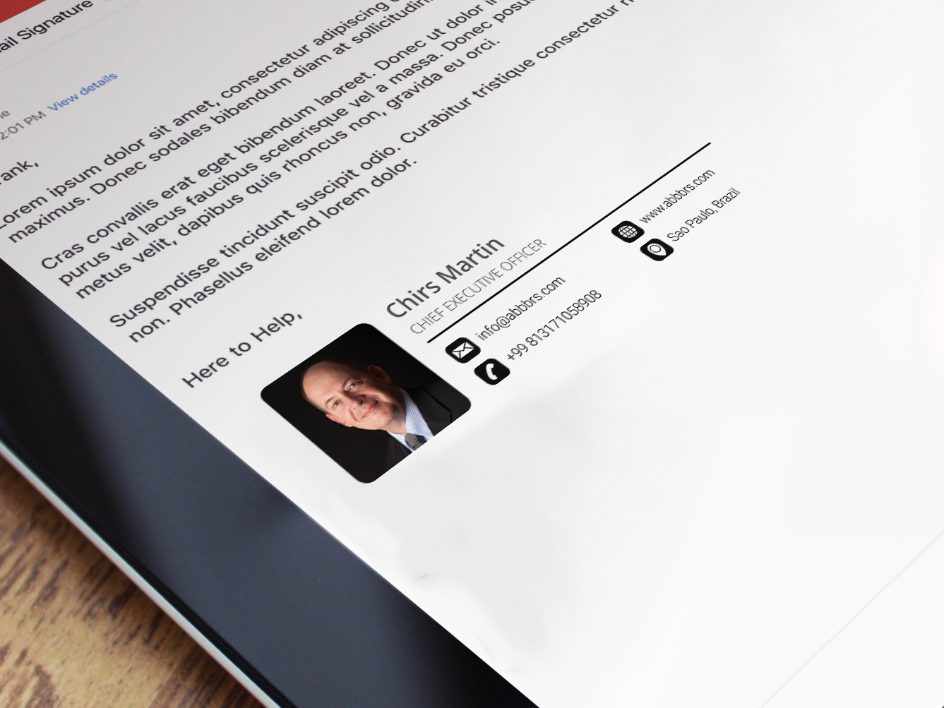 do clickable html email signature design