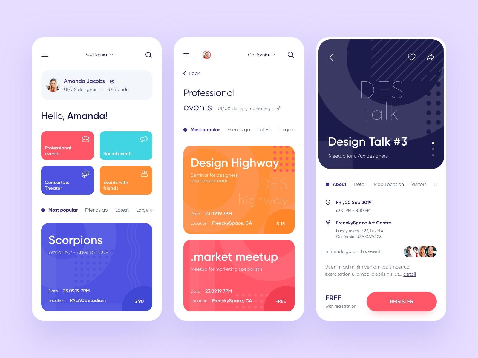 I will design mobile ui or web ui