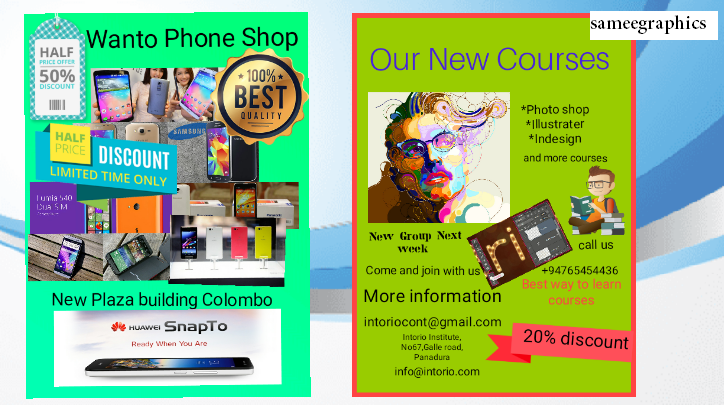 I wil design killer flyer to your company or web