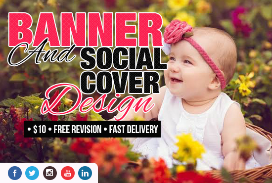 I will design Facebook page cover,  Banner ads,  Twitter and Youtube for