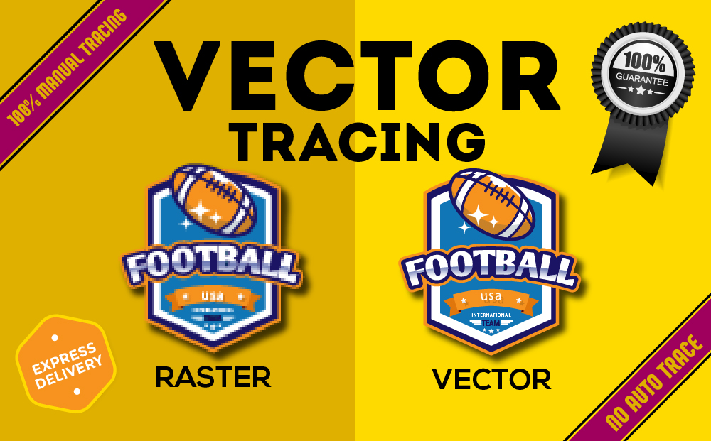I will convert to vector tracing,  redraw logo,  vectorize image