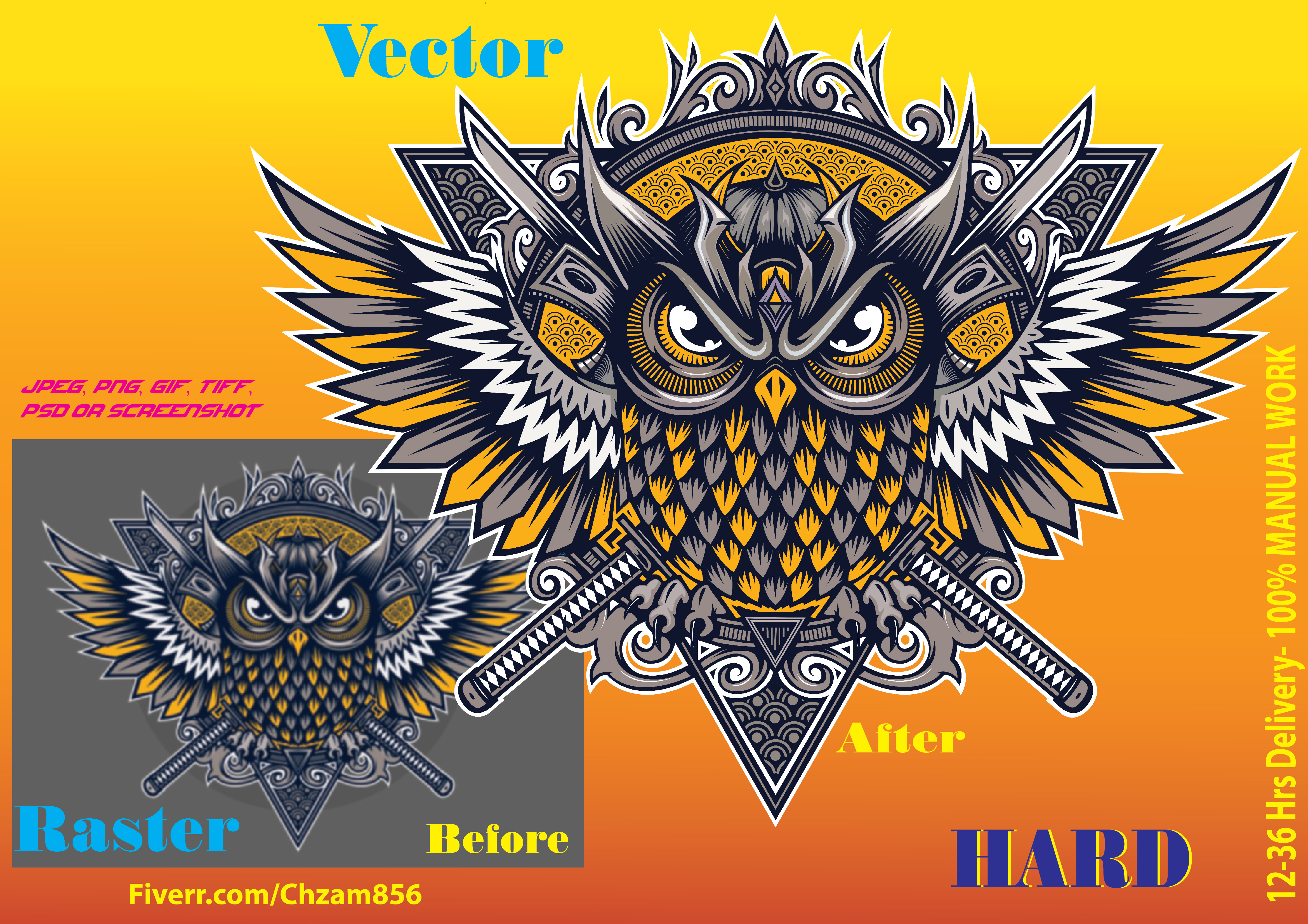 I will manually vectorize your old logo, image, drawing in HD