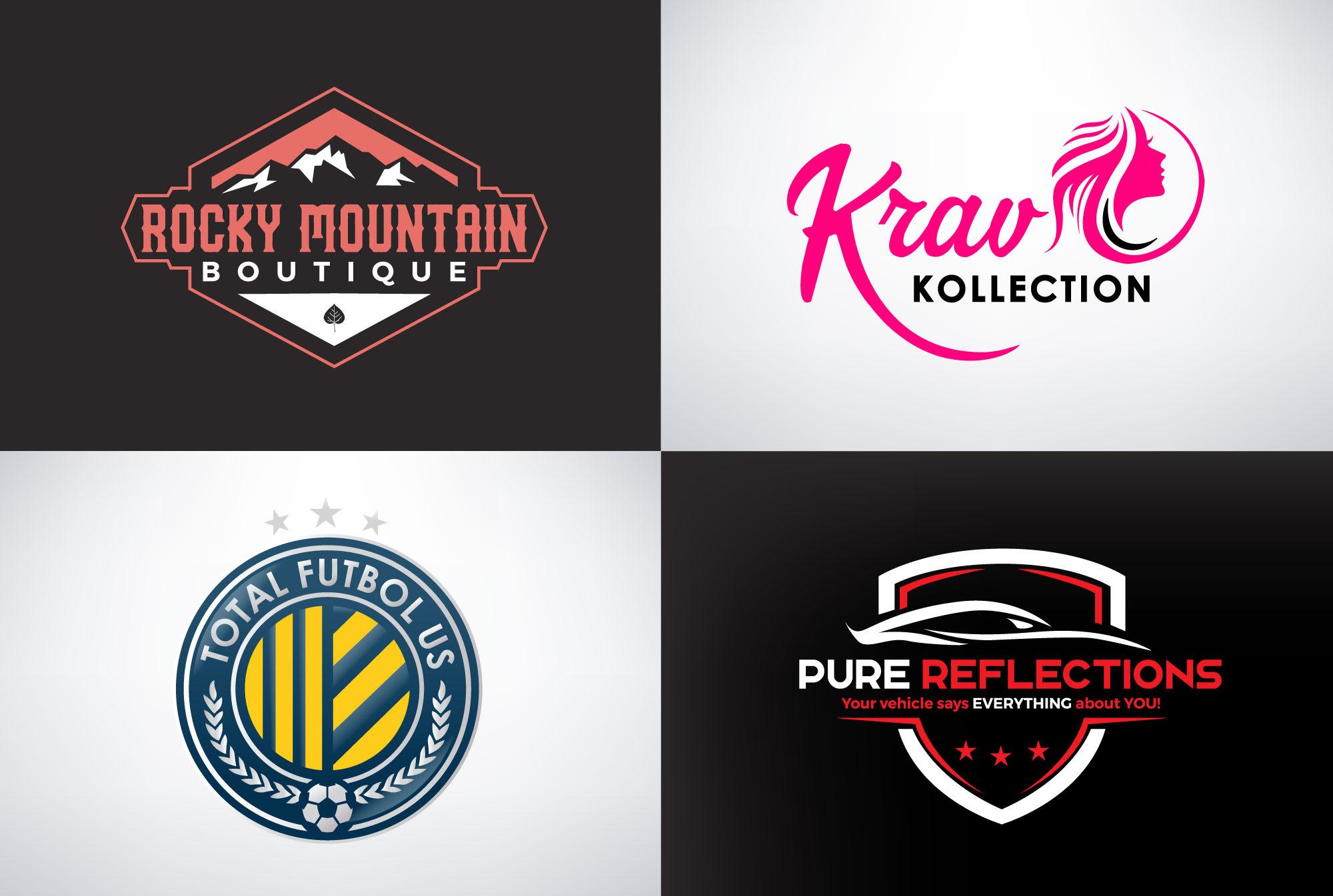 I will do modern minimalist typography logo design