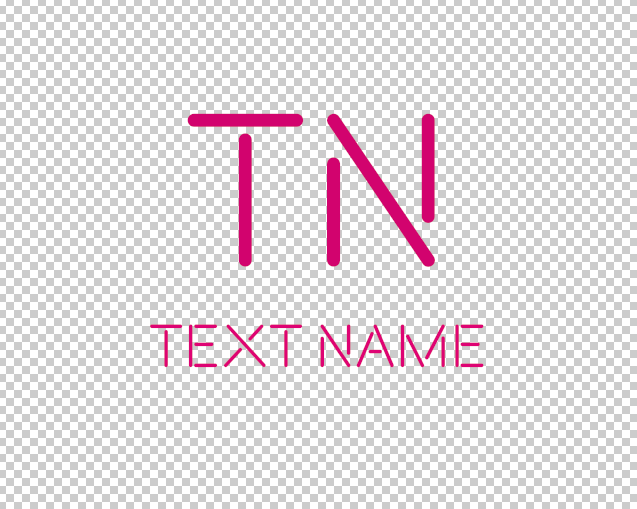 I Will Design Hot Pink Text Logo