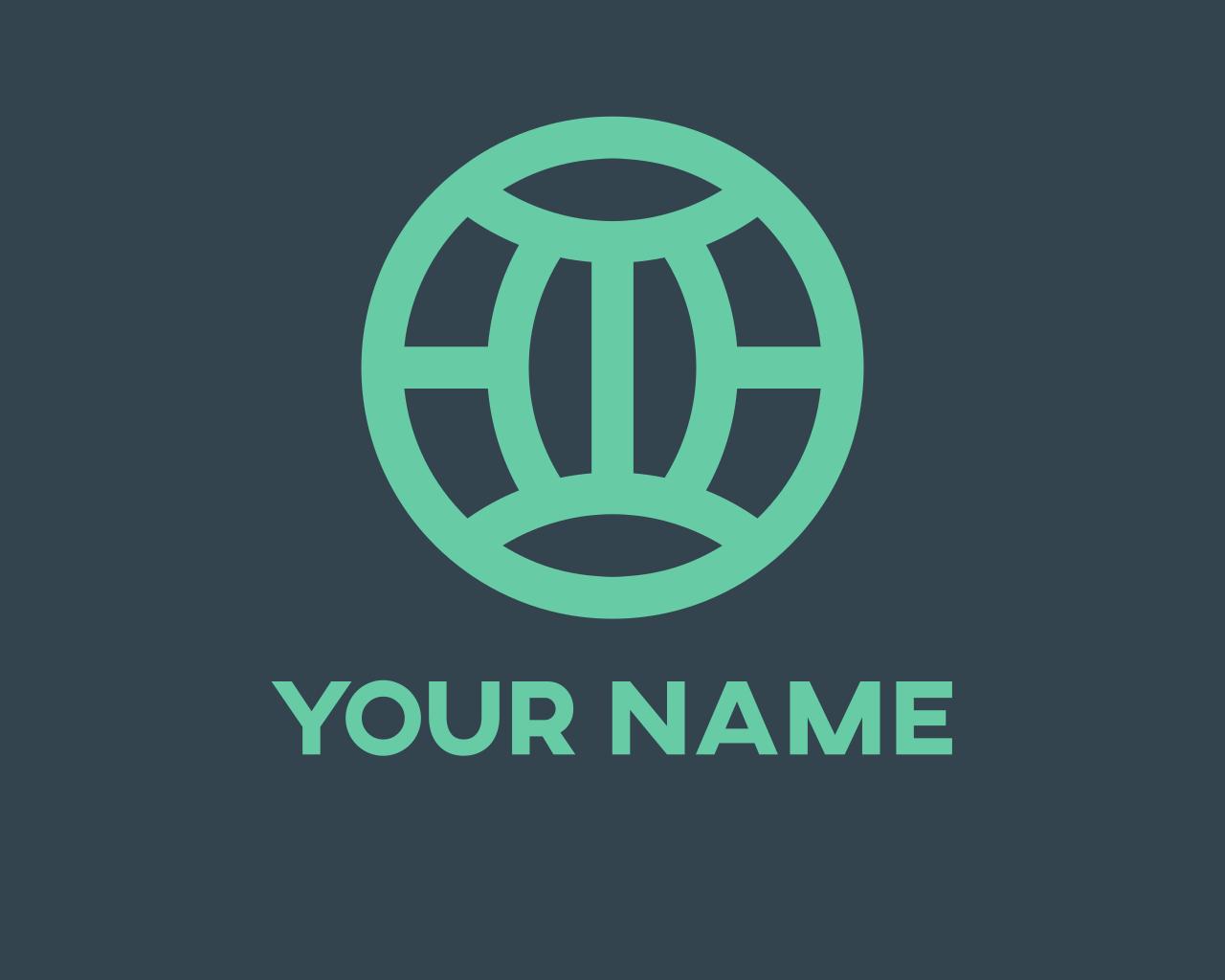 I Will Design Teal Modern Globe Logo