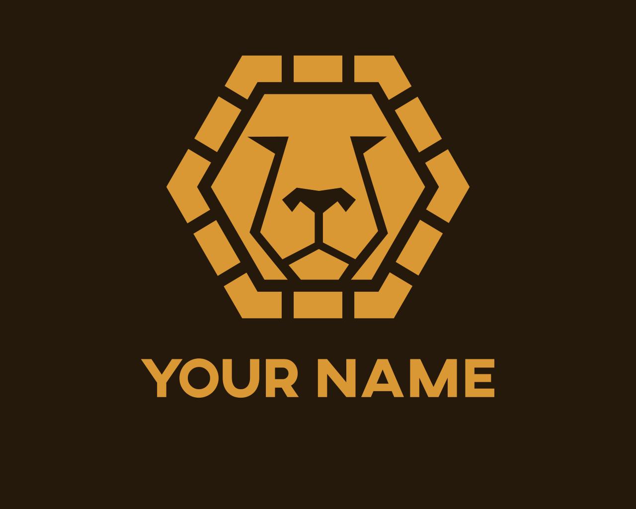 I Will Design Golden Lion Emblem Logo