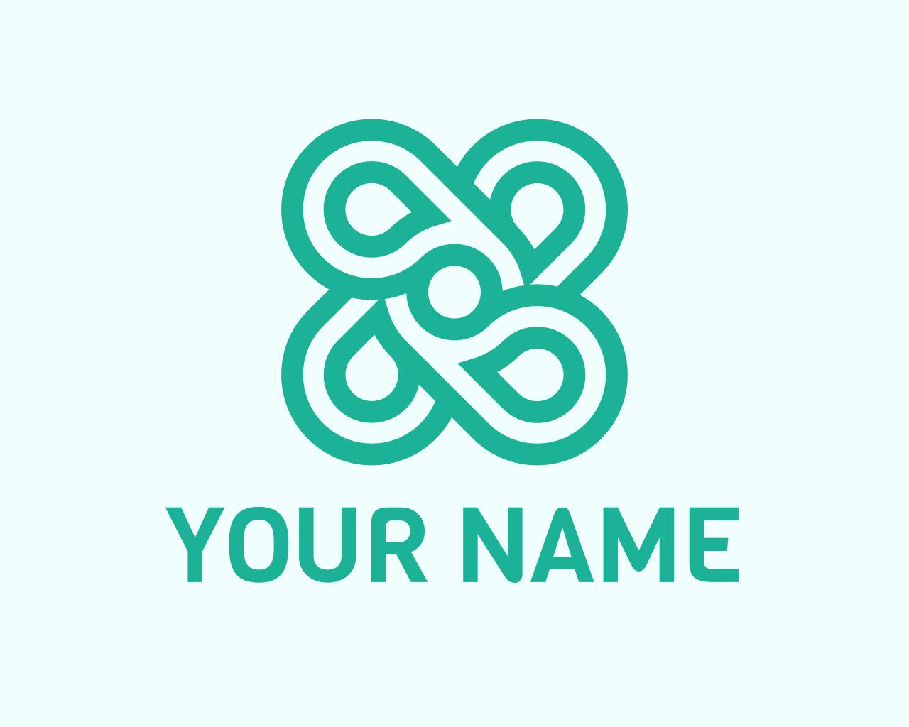 I Will Desgin Mint Flower Logo