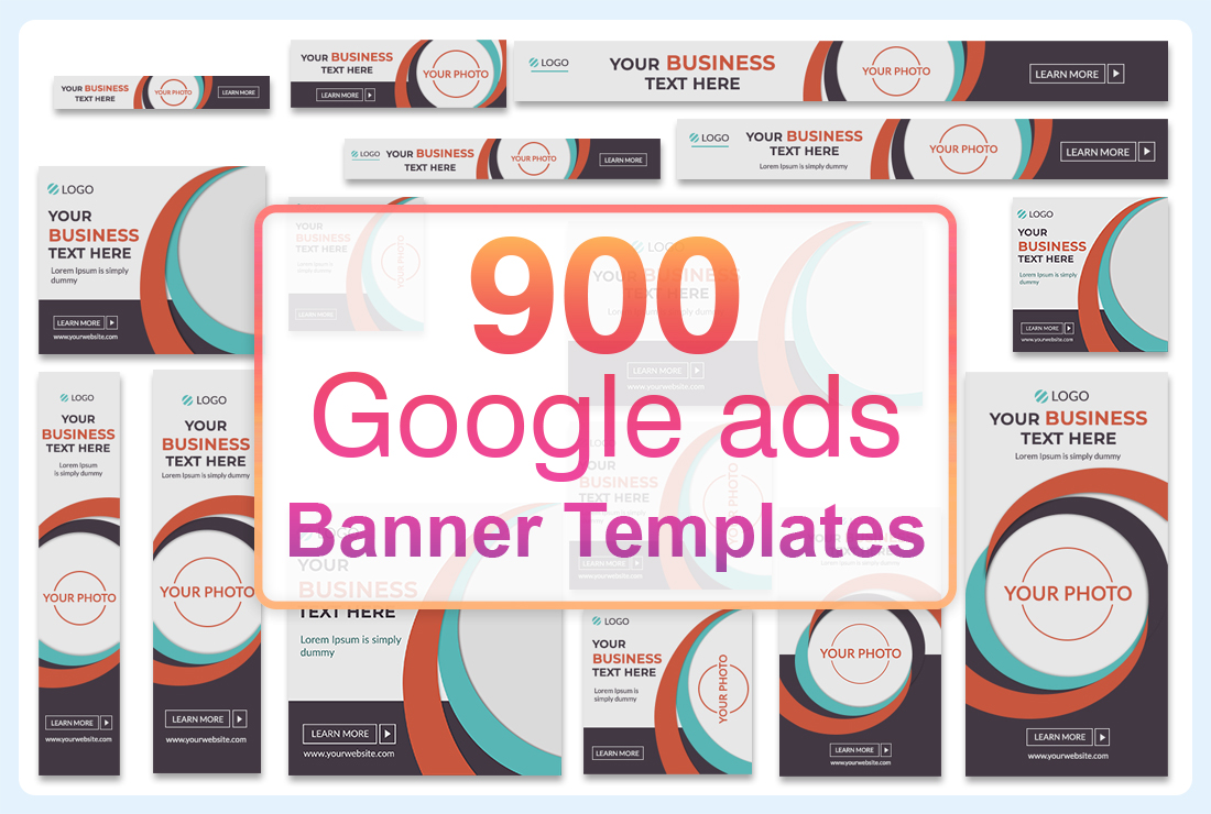 900 Google Banner Ads templates