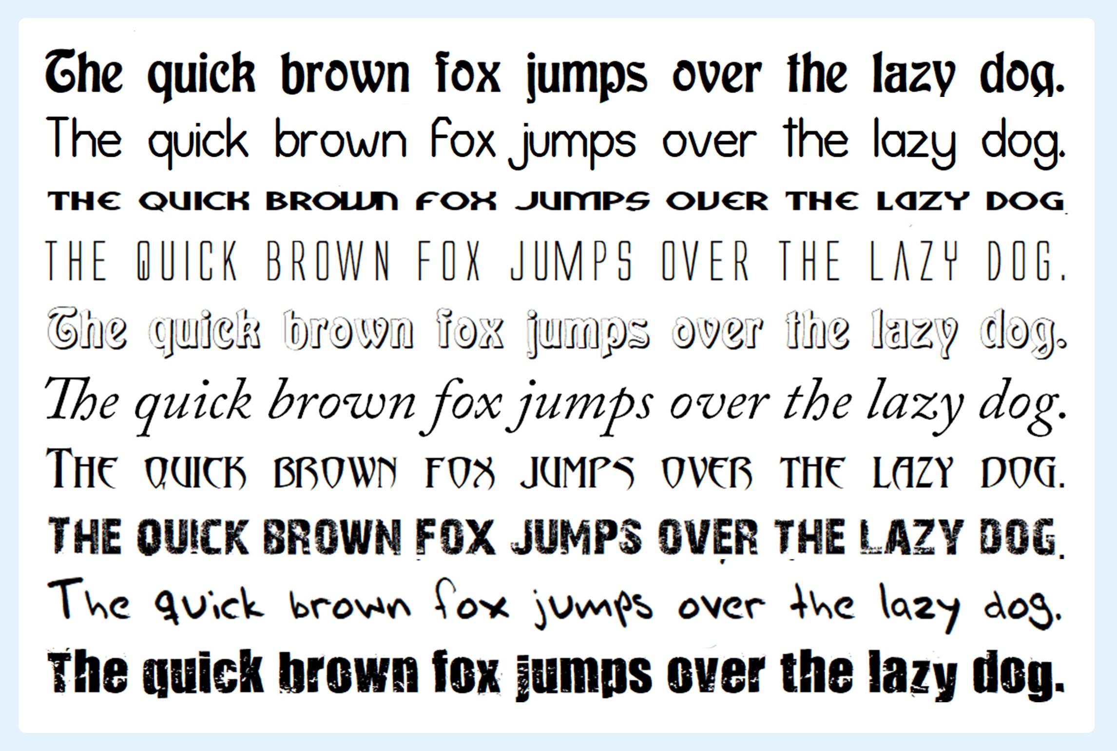 10,000 fonts bundle with premium fonts