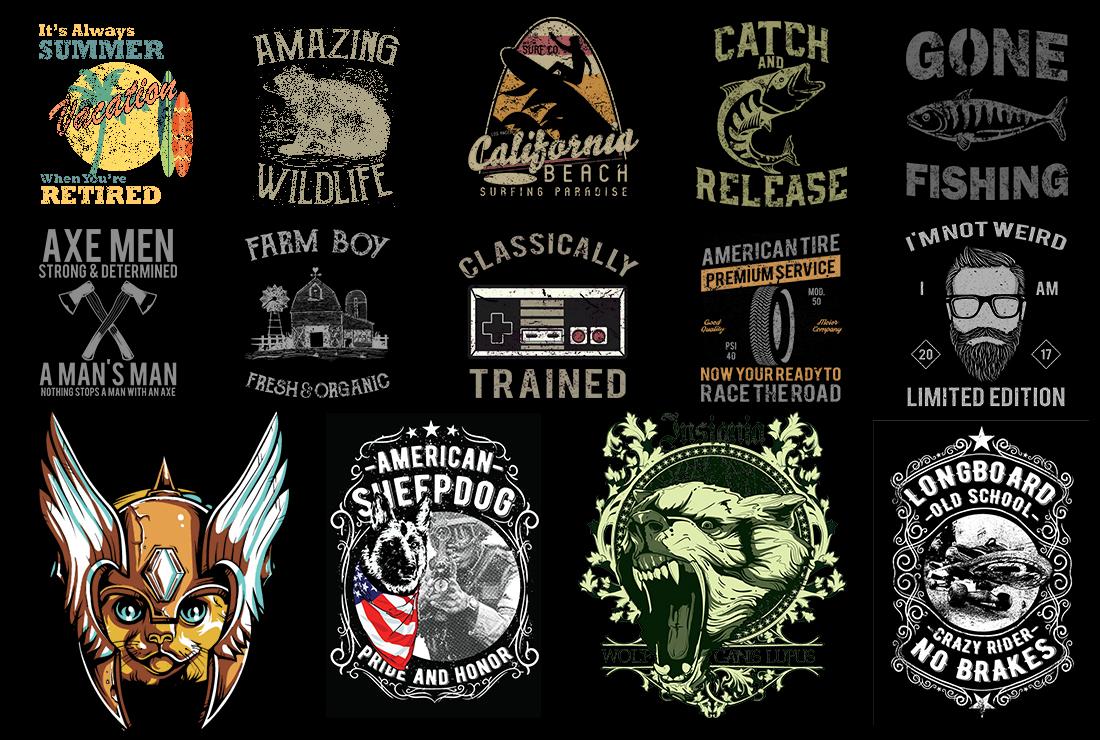 1500 T Shirt Design Mega Bundle