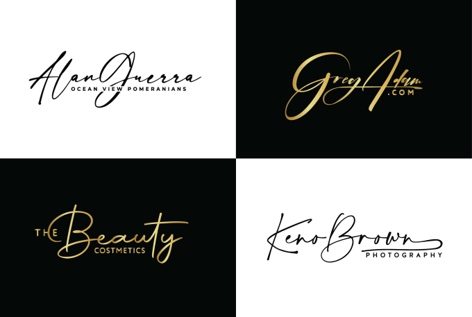 i will design your photography signature logo