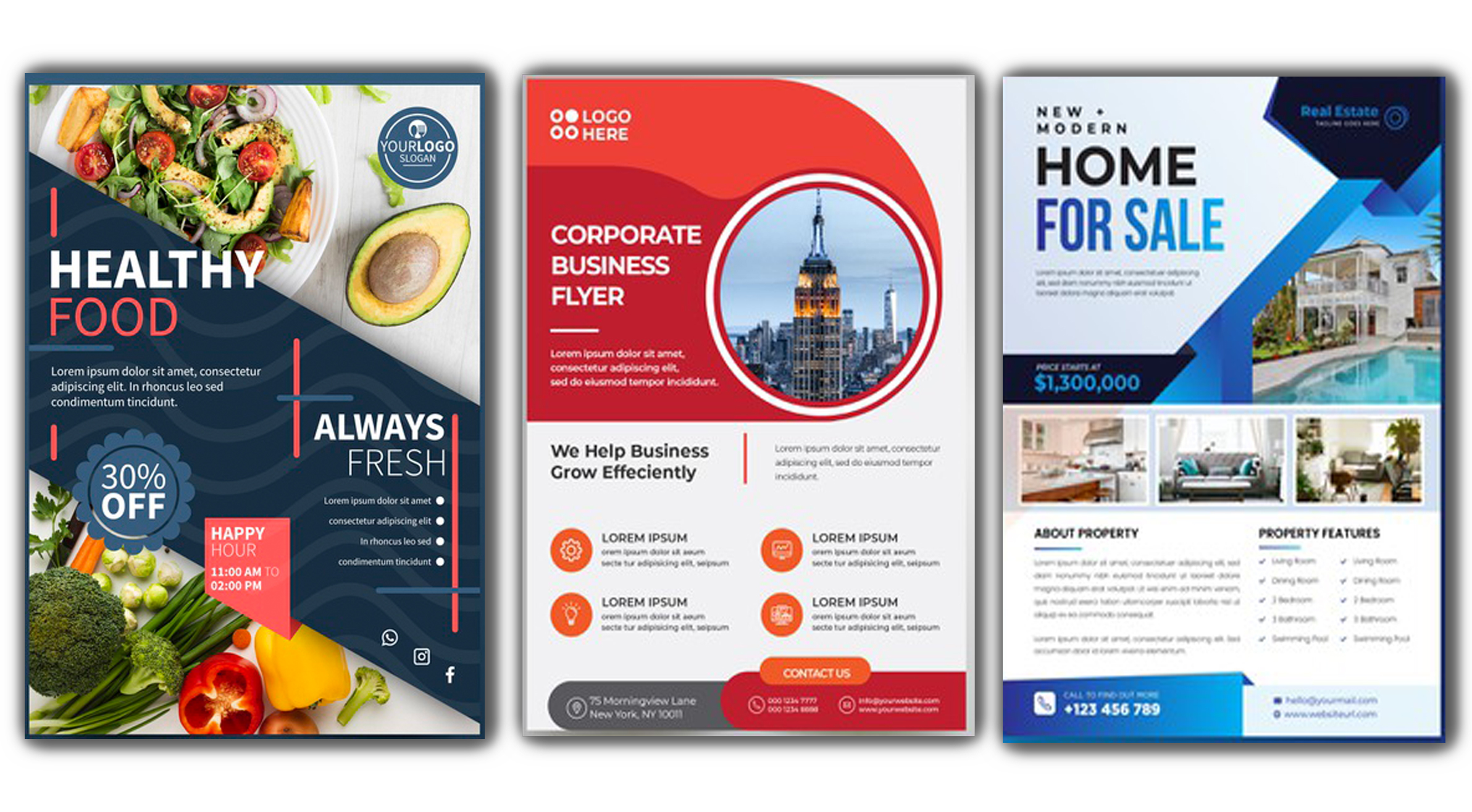 I will design a professional flyer design for your business promote