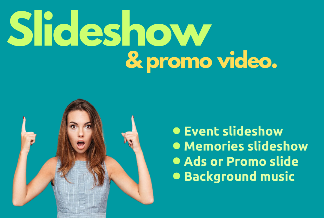 I will create beautiful slideshow or promo video with your photos and videos