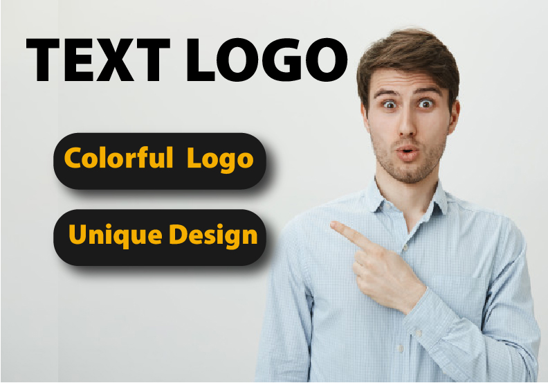 I will create colorful eye catching text logo in 24 hour