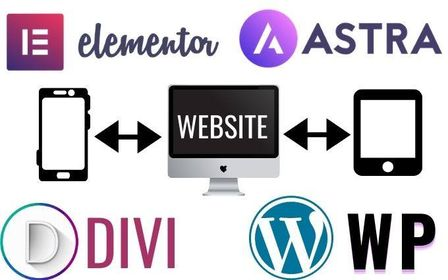 I will build responsive WordPress website with Astra, Divi theme, Elementor pro